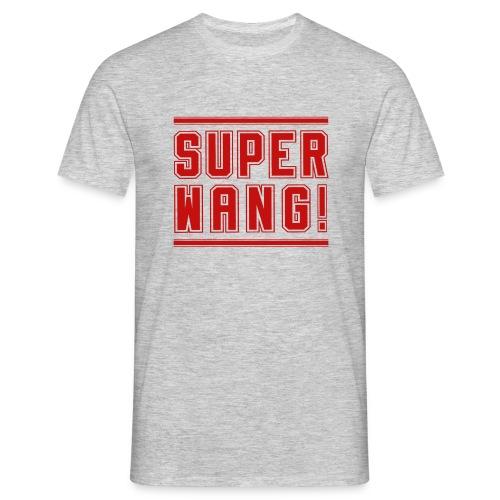 SUPER WANG! T-Shirt für Männer, rotes Logo SUPER WANG! - Männer T-Shirt