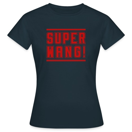 SUPER WANG! T-Shirt für Frauen, rotes Logo SUPER WANG! - Frauen T-Shirt