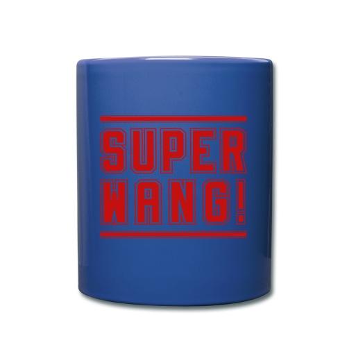 SUPER WANG! Becher blau mit rotem Logo - Tasse einfarbig