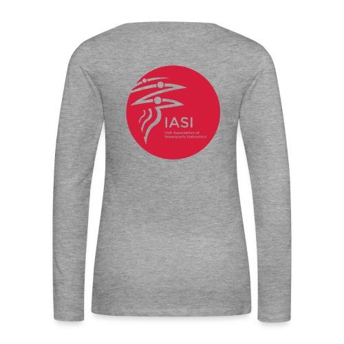 Ladies grey long sleeve t-shirt - Women's Premium Longsleeve Shirt