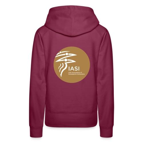 Ladies burgundy hoodie - Women's Premium Hoodie