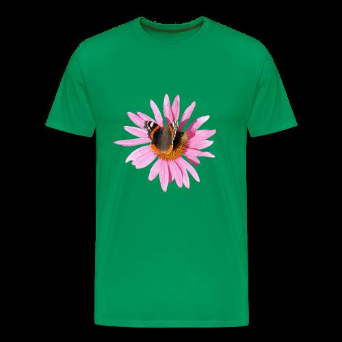 TIAN GREEN Shirt Men - Sonnenhut Schmetterling - Männer Premium T-Shirt