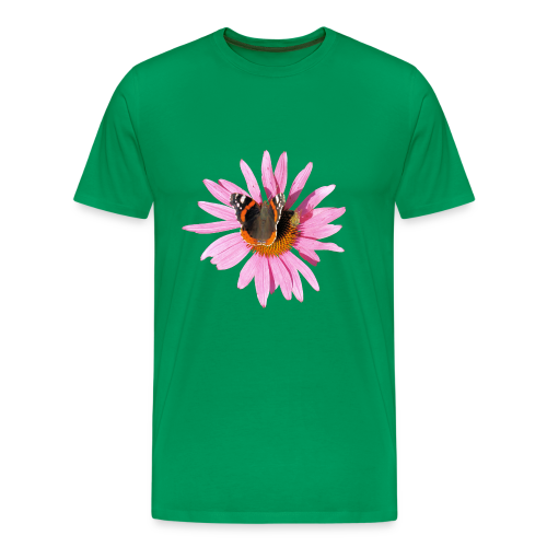 TIAN GREEN Shirt Men - Sonnenhut Schmetterling - Männer Premium T-Shirt