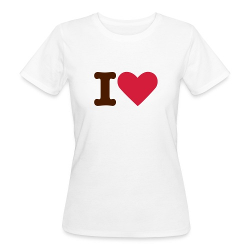 T-shirt Dam I Love ECOday - Ekologisk T-shirt dam