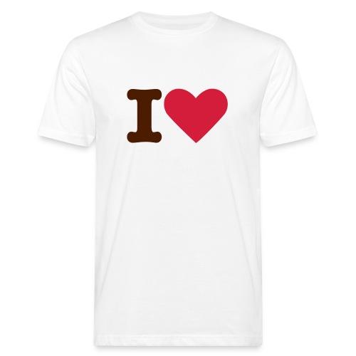 T-shirt Herr I Love ECOday - Ekologisk T-shirt herr