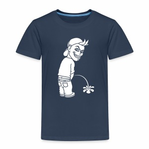 Pee Boy (white) - Kids' Premium T-Shirt