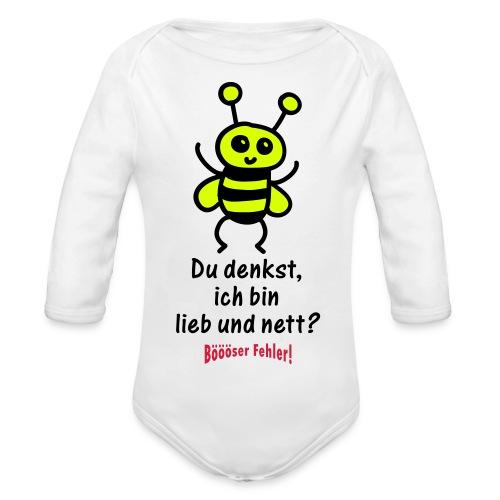 Gute Biene, Böse Biene Strampler - Baby Bio-Langarm-Body