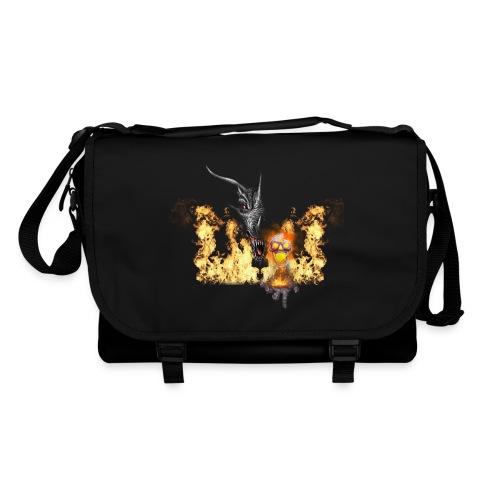 Tracolla - teschio,skull,metal,gothic,fire,dragon