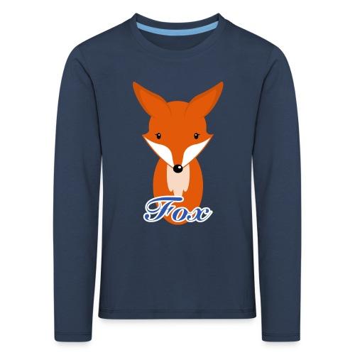 Fuchs Retro Style Langarmshirts - Kinder Premium Langarmshirt