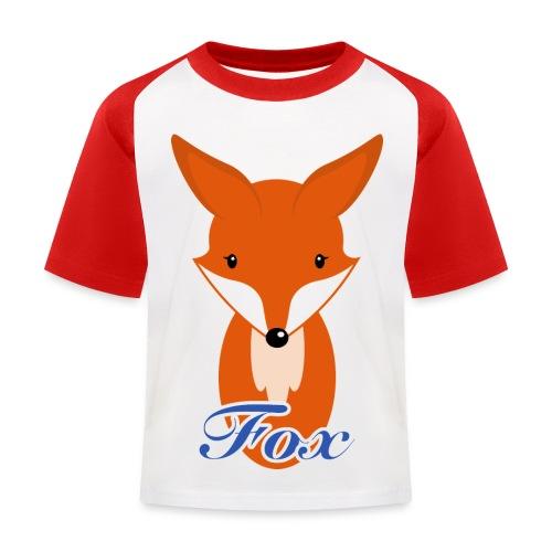 Fuchs Retro Style T-Shirts - Kinder Baseball T-Shirt