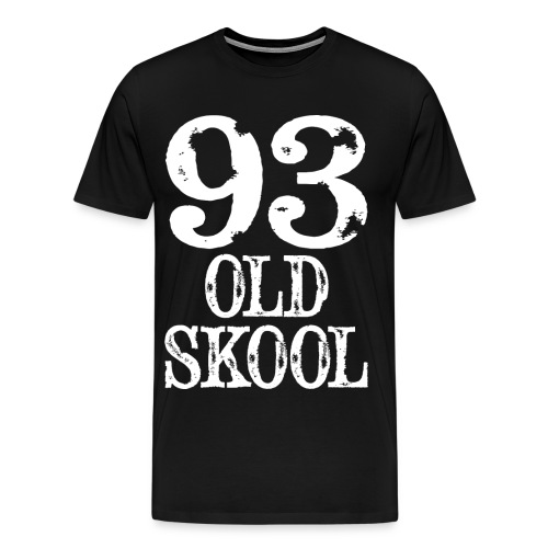 93 OLD SKOOL Mens T-Shirt - Men's Premium T-Shirt