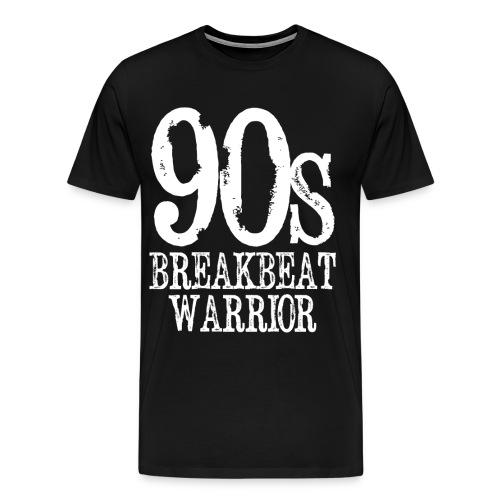 90's Breakbeat Warrior Mens T-Shirt - Men's Premium T-Shirt