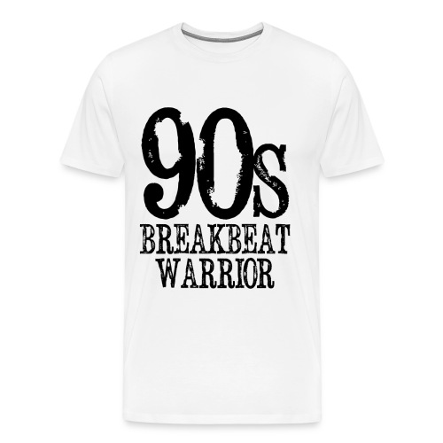 90's Breakbeat Warrior Black Logo Mens T-Shirt - Men's Premium T-Shirt