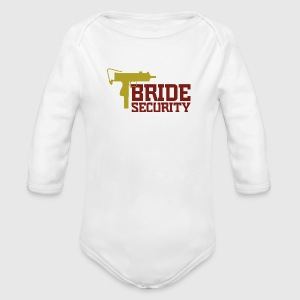 Security Team of the Bride Baby Bodysuits - Longlseeve Baby Bodysuit