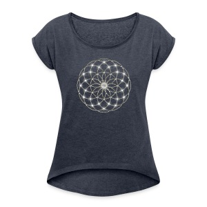FEEL THE FORCE! Seed of Life - Tube Torus, digital, silver, energy, symbol, protection, powerful,  T-shirt - Maglietta da donna con risvolti
