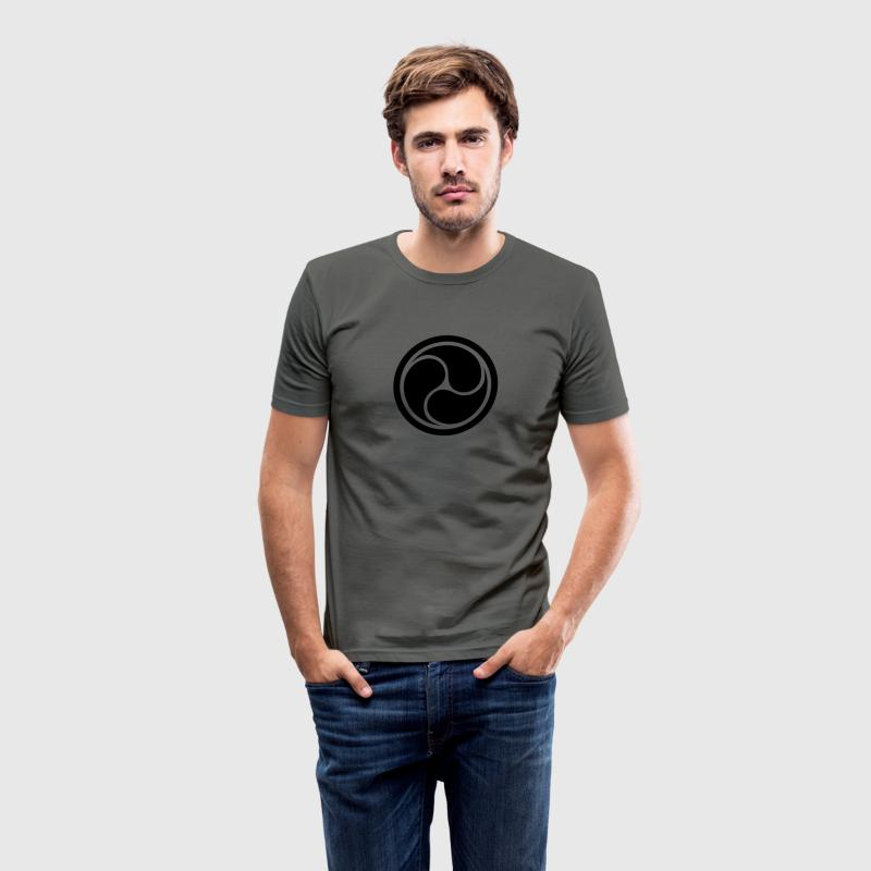 Triple Yin Yang, wheel of joy, Triforce symbol T-shirts - slim fit T-shirt