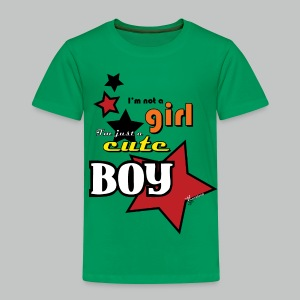 I'm not a girl I'm just a cute boy pop - Kids' Premium T-Shirt