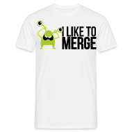 Monster mit I like to merge T-Shirts