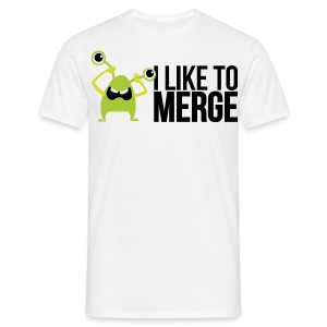 Monster mit I like to merge T-Shirts - Männer T-Shirt