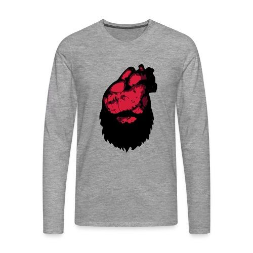 Bearded Heart LT - Långärmad premium-T-shirt herr