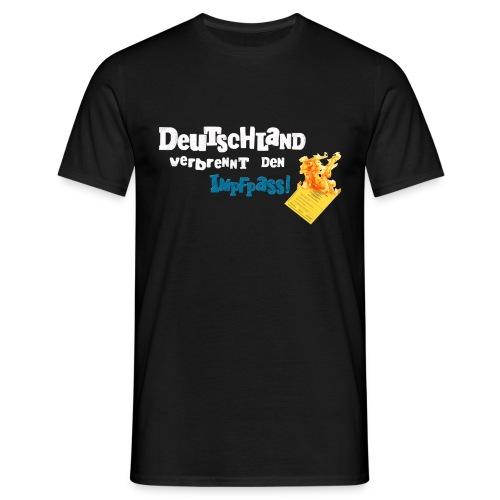 Männer T-Shirt-schwarz / DVDI-Logo - Männer T-Shirt