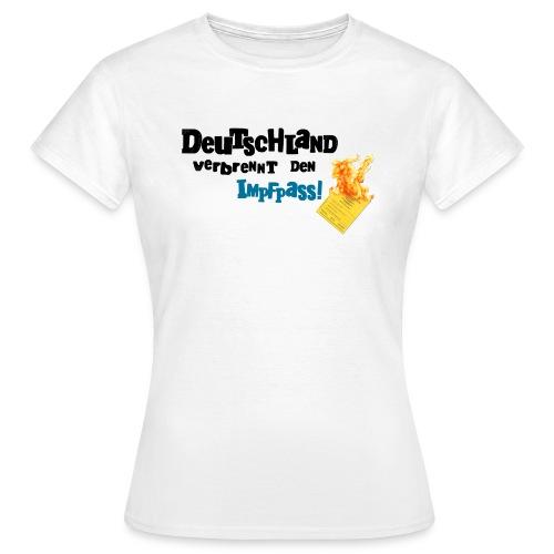 Frauen T-Shirt-weiß / DVDI-Logo - Frauen T-Shirt