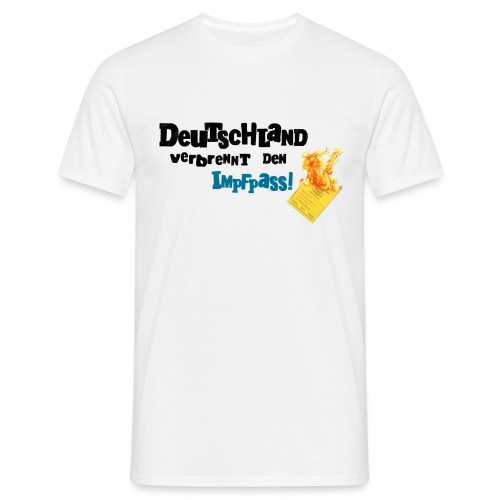 Männer T-Shirt-weiß / DVDI-Logo - Männer T-Shirt