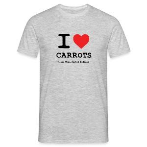 I Love Carrots T-Shirt Grey - Moore Than Just A Podcast - Men's T-Shirt