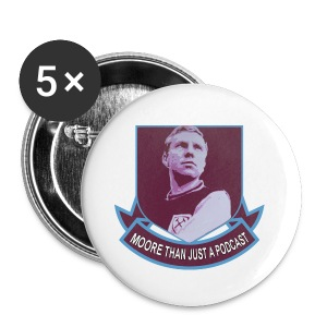 MTJAP Logo Badges - Pack of 5 - Moore Than Just A Podcast - Buttons medium 32 mm