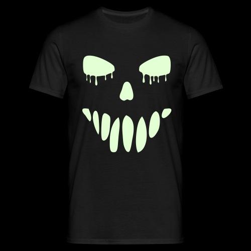 Glow in the Dark Face - Men's T-Shirt