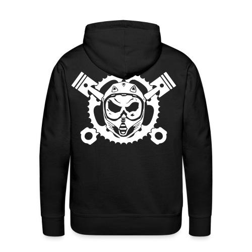 Motocrossskull hoodie - Männer Premium Hoodie