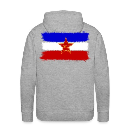 Jugoslawien Flagge Hoodie - Männer Premium Hoodie