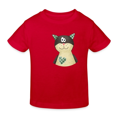 Kinder-Bio-Shirt Katze - Kinder Bio-T-Shirt