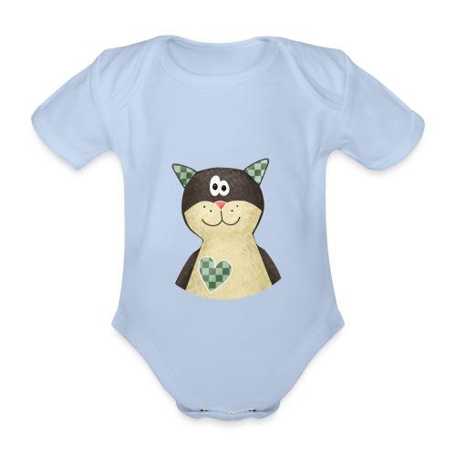 Baby-Body Katze - Baby Bio-Kurzarm-Body