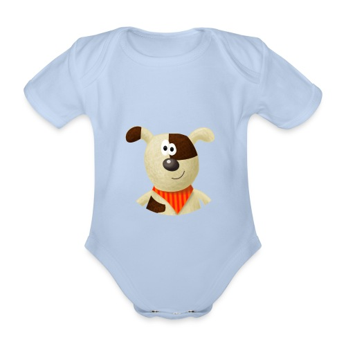 Baby-Body Hund - Baby Bio-Kurzarm-Body