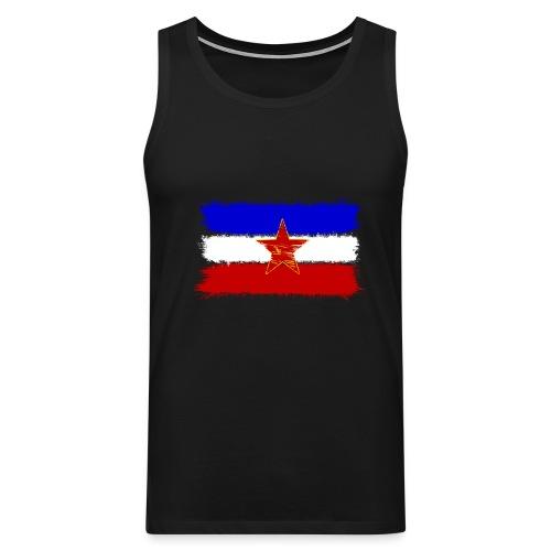 Jugoslawien Flagge (Herren) - Männer Premium Tank Top