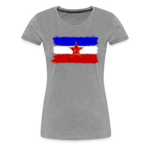 Jugoslawien Flagge Premium (Frauen) - Frauen Premium T-Shirt