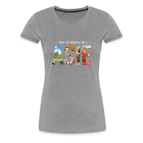 T-shirt Femme Gris - T-shirt Premium Femme