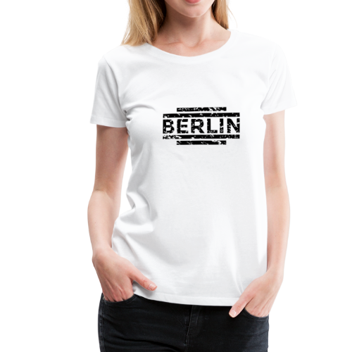 Berlin T-Shirt 20th Used Black (Damen) - Frauen Premium T-Shirt