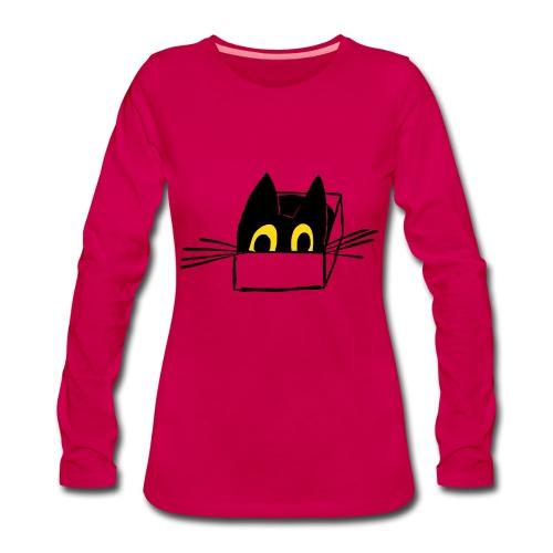 Frau Kami Katze Logo - Frauen Premium Langarmshirt