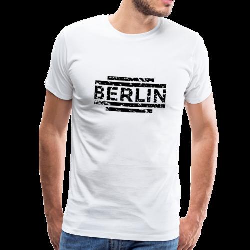 Berlin T-Shirt 20th Used Black (Herren) - Männer Premium T-Shirt