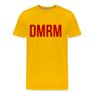 DMRM Large & Text on Back - Men's Premium T-Shirt