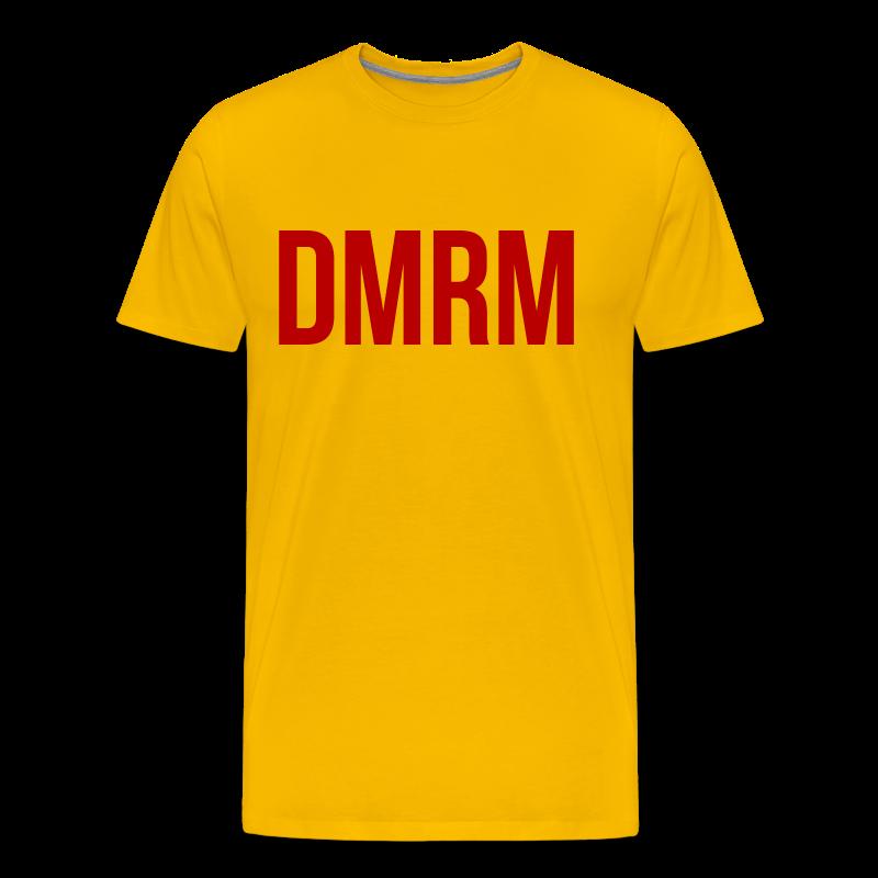 DMRM Large & Text on Back - Men's Premium T-Shirt