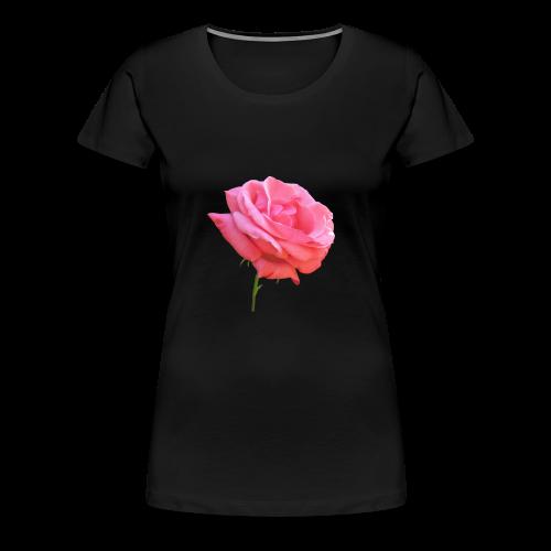 TIAN GREEN Shirt Women - Rose - Frauen Premium T-Shirt