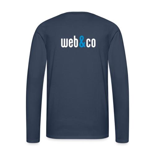web&co blue - Männer Premium Langarmshirt