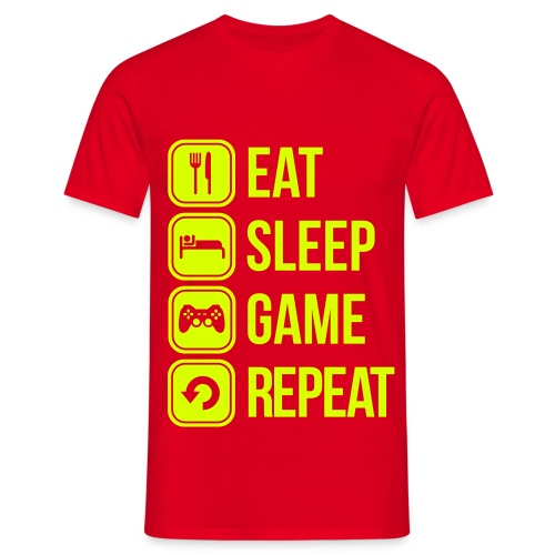 Eat, Sleep, Game, Repeat - Männer T-Shirt
