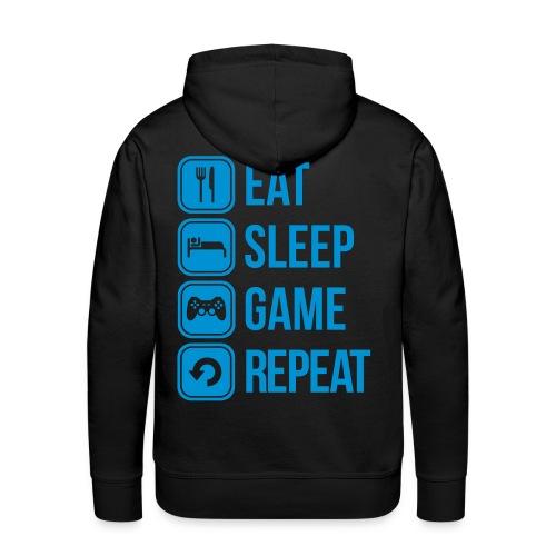 Eat, Sleep, Game, Repeat - Männer Premium Hoodie