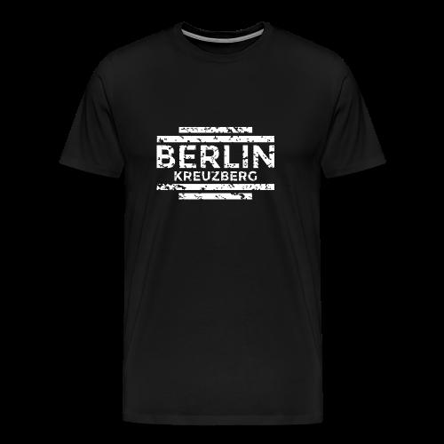 Berlin Kreuzberg T-Shirt (Herren Schwarz/Used) - Männer Premium T-Shirt