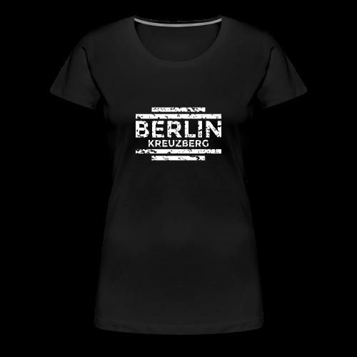 Berlin Kreuzberg T-Shirt (Damen Schwarz/Used) - Frauen Premium T-Shirt