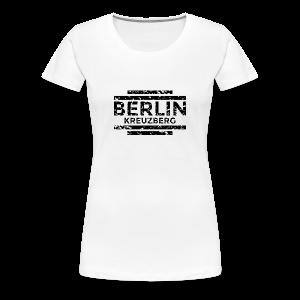 Berlin Kreuzberg T-Shirt (Damen Weiß/Used) - Frauen Premium T-Shirt